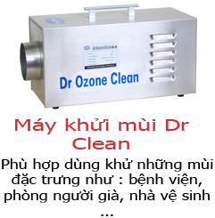 may khu mui salon toc dr ozone clean